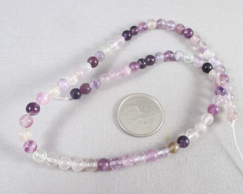 Purple Fluorite Bead Strand Round Various Sizes