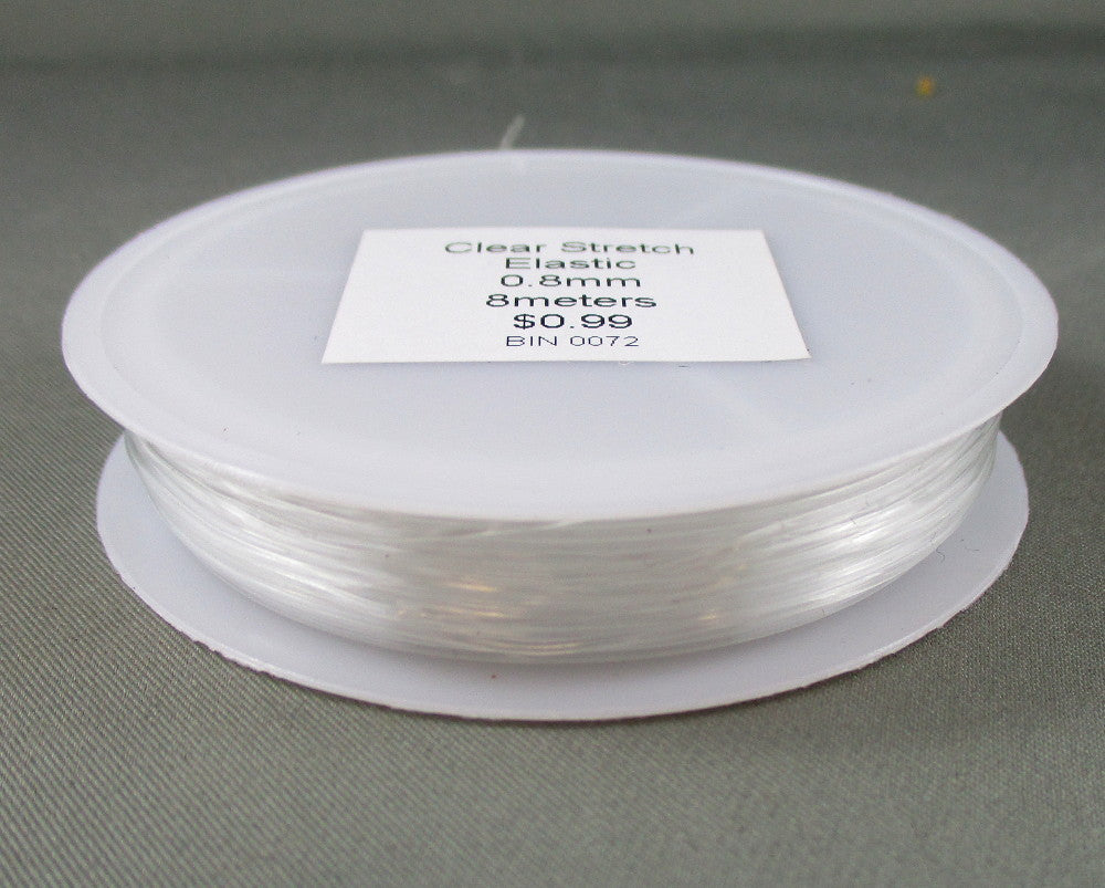 Clear Stretch Elastic 0.8mm - 8 meters 1pc (0072)