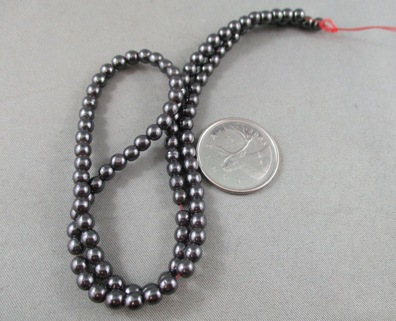 Magnetic Hematite Beads Round Various Sizes