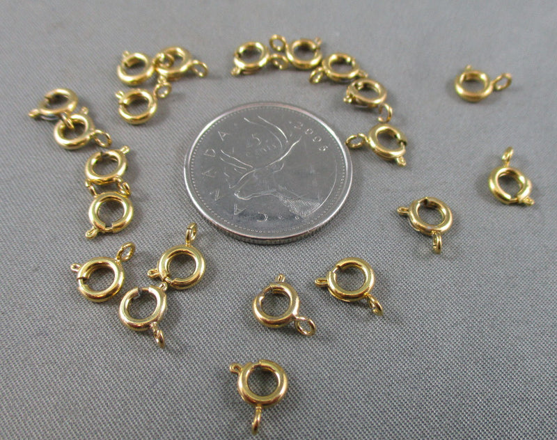 Spring Clasp Gold Tone 6mm 20pcs (0141-2)