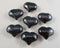 Black Obsidian Stone Heart 1pc (1211)
