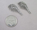 Feather Charms Silver Tone 4pcs (1384)