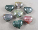 Indian Agate Stone Heart 1pc (1184)