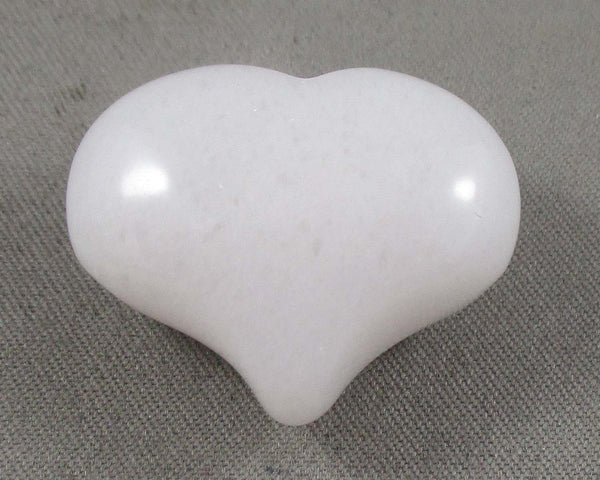 White Quartz Heart 1pc T809