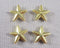 Star Spacer Beads Gold Tone 12mm 16pcs (0653)