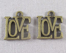 Love Charms Antique Bronze 10pcs (0086-3*)