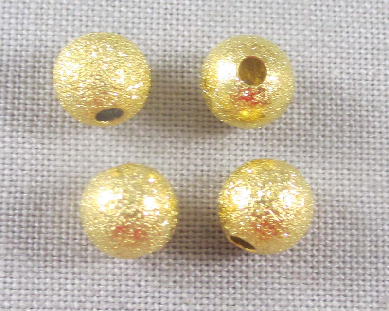 Gold Tone Star Dust Spacer Beads 6mm 30pcs (0718-2)
