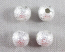 Silver Tone Star Dust Spacer Beads 6mm 30pcs (1295)