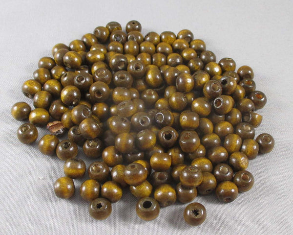 Coffee Brown Wood Beads 8mm Round 150pcs (3027)