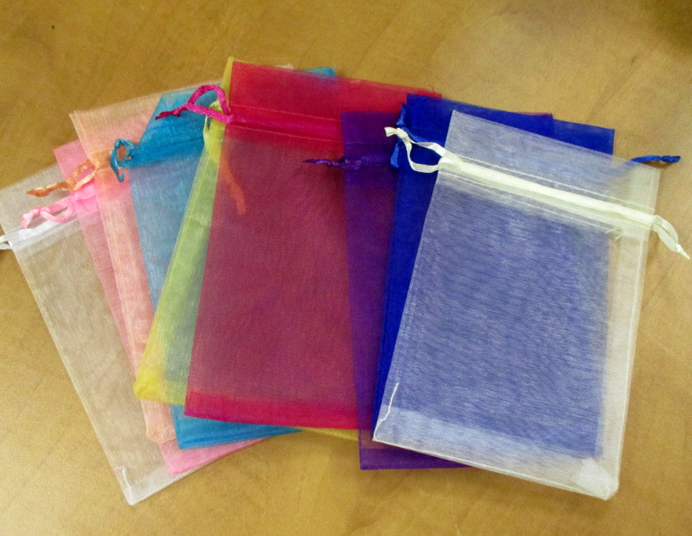 "Organza Bags - Mixed Colors 4""x 6"" 10pcs (0079)"