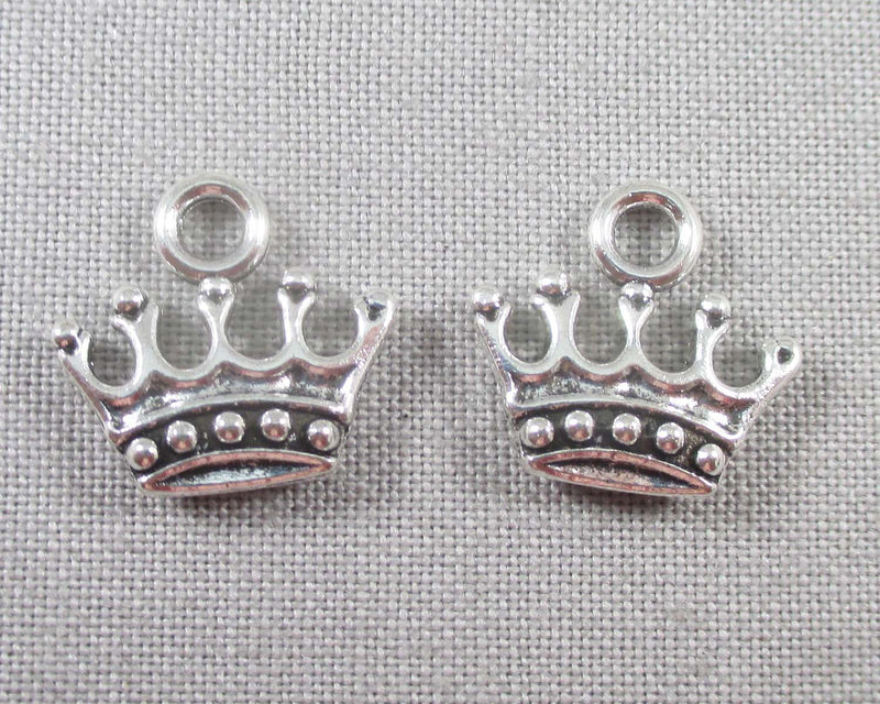 Crown Charms Silver Tone 20pcs (0814*)