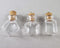 Glass Bottle Pendants with Cork 3pcs (A043)