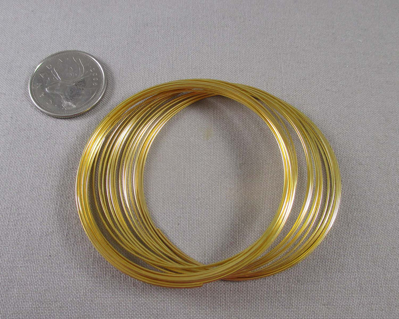 Memory Wire Gold Tone (30 Circles) (2275)