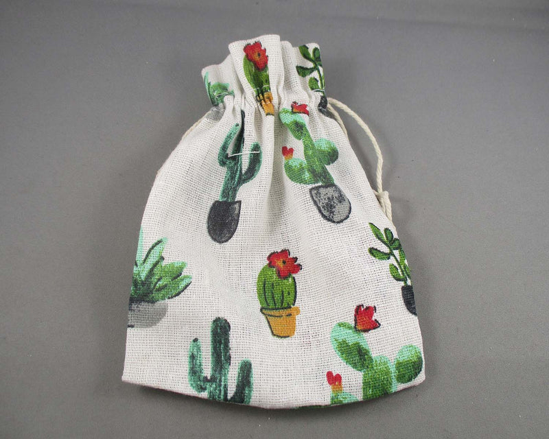Cactus Bag for Gemstones 18x13cm 1pc (3021)