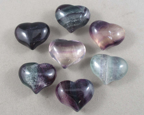 Rainbow Fluorite Heart 1pc (1108)