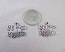 """My Mom My Hero"" Charm Silver Tone 8pcs (0758*)"