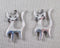 Cat Charms Silver Tone 14pcs (0721)