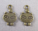 Cat Charms Antique Bronze Tone 15pcs (1668)
