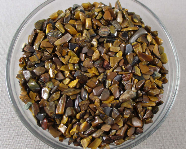 Tiger Eye Stone Chips (Undrilled)