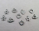 Mixed Shape Charms Stainless Steel 5pcs 7-12mm  (0333)