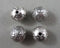 Silver Tone Round Tibetan Spacer Beads 10mm 4pcs (0569)