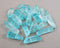 Electroplated Quartz Points (Drilled) Aqua Blue 4pcs (2044)