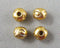 Gold Tone Tibetan Rondelle Spacer Beads 4.5x5.5mm 40pcs (0528)