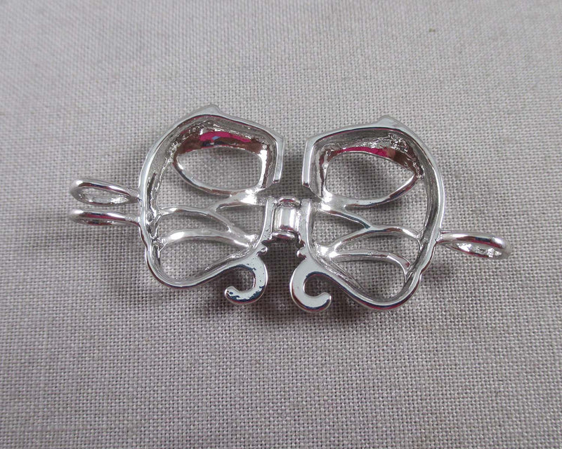 Elephant Cage Pendant Silver Tone 1pc (1505)