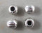 Silver Tone Round Tibetan Spacer Beads 7mm 20pcs (0531-1)
