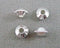 Silver Tone Bicone Saucer Spacer Beads 2.3x4mm 50pcs (0477)