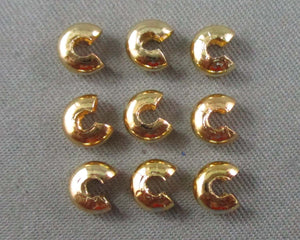 Crimp Bead Covers Gold Tone 4mm 80pcs (0475-3)