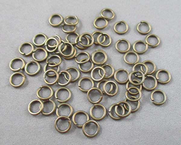 Jump Rings Antique Bronze Tone Various Sizes