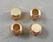 Gold Tone Square Spacer Beads Brass 4mm 10pcs (0467*)