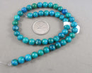 """Chrysocolla"" Beads Round Various Sizes"