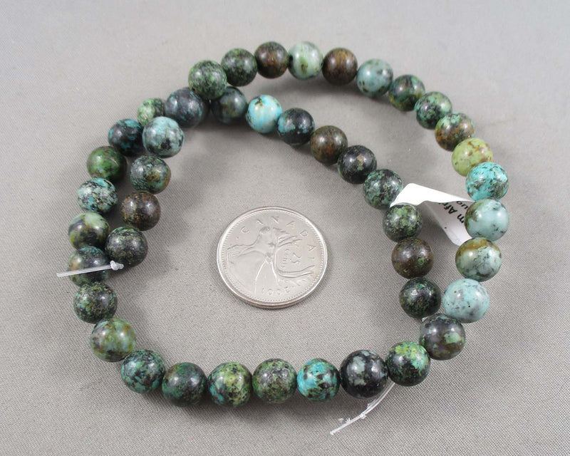 African Turquoise Beads Round Strand Various Sizes