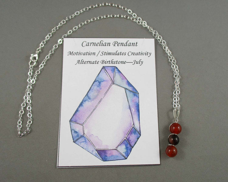 Creativity Gemstone Pendant 1pc (Silver or Gold Chain)