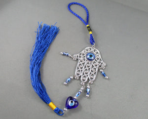 Evil Eye Hamsa Hand Wall Hanging with Tassel 1pc R180