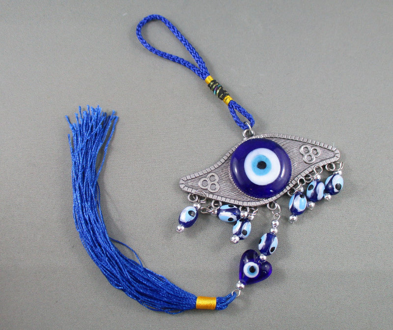 Evil Eye Wall Hanging with Tassel 1pc R181