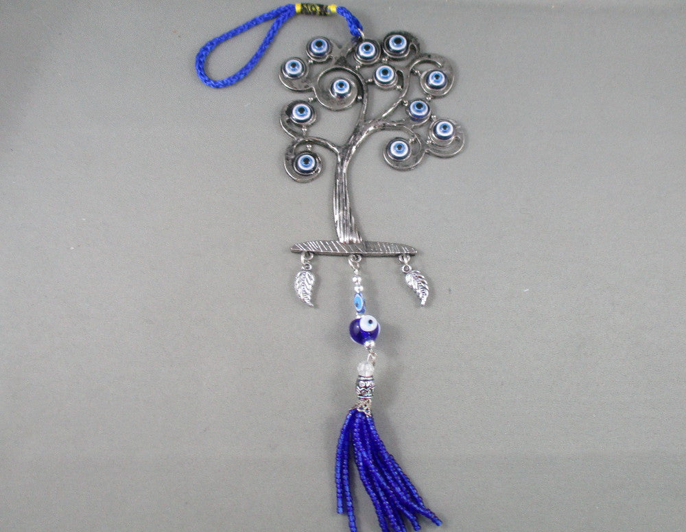 evil eye wall hanging with tree of life