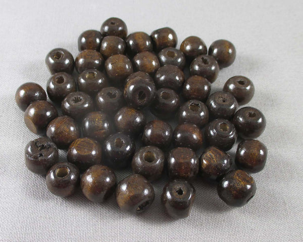 Chocolate Brown Wood Beads Various Sizes