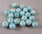 Aqua Blue Pearlized Porcelain Beads 10mm Round 20pcs (0778)