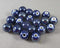 Dark Blue Pearlized Porcelain Beads 10mm Round 20pcs (0775)
