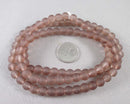 "Brown Frosted Glass 8mm Beads 31"" Strand (2014)"