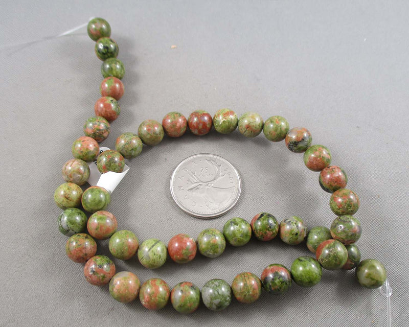 Unakite Beads Round Various Sizes