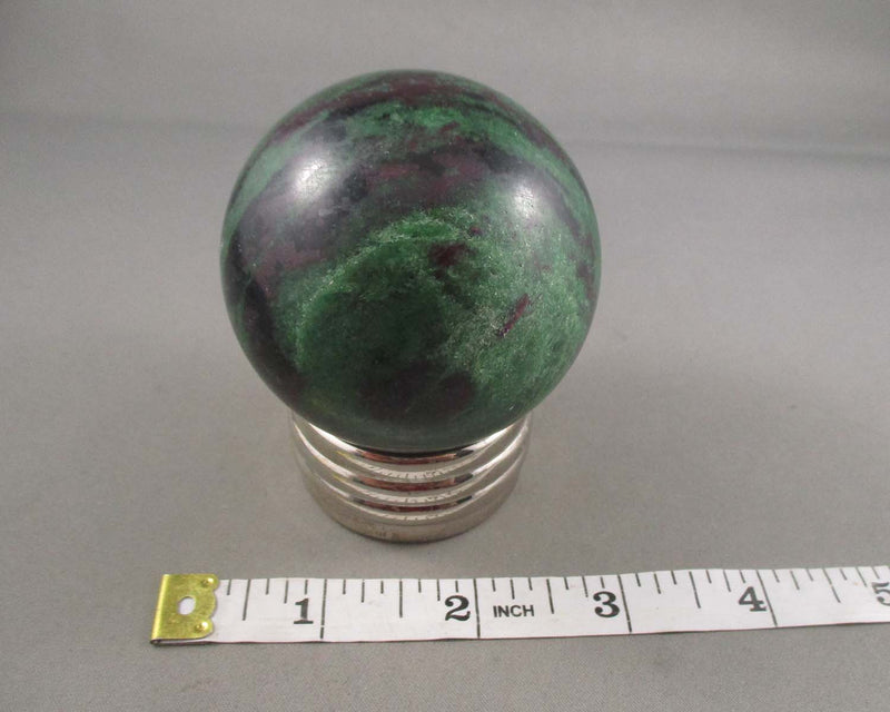 Large Ruby Zoisite Stone Sphere 1pc E018-2