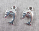 Dolphin Charms Silver Tone 12pcs (0889*)