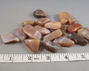 Peach Moonstone Polished Stones 3pcs T056
