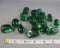 "Green ""Obsidian"" Stones Polished 3pcs T629"