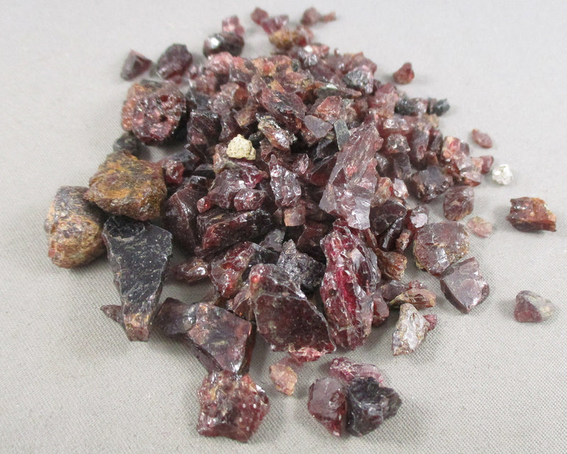 Almandine Garnet Crystal Chips Raw 55 grams T562