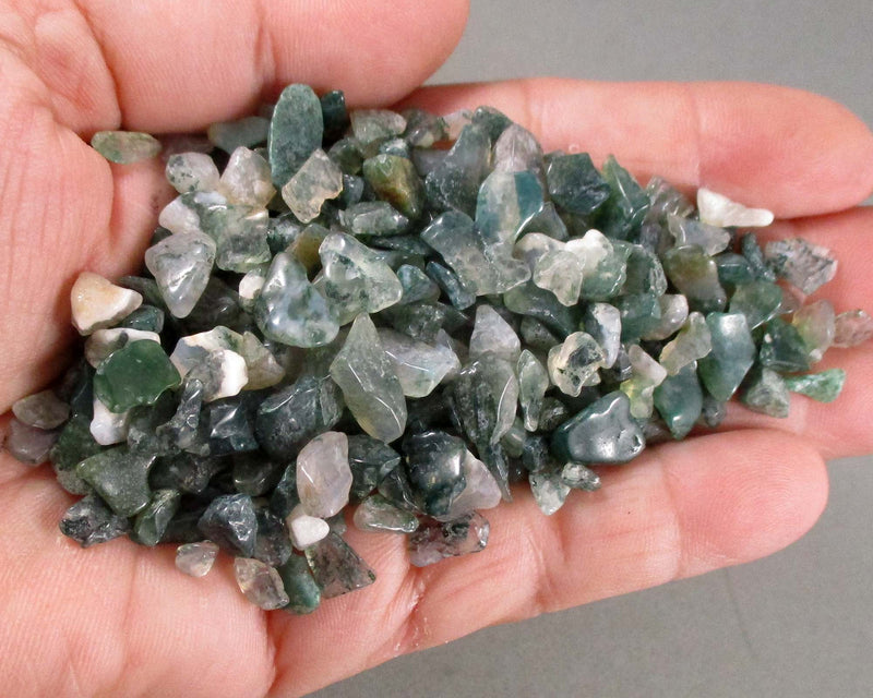moss agate stone chips